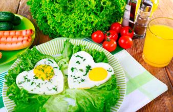 Яичница на завтрак при ПП