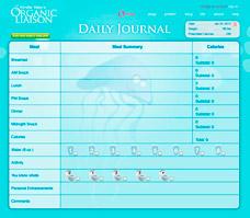 Пример ведения дневника похудения