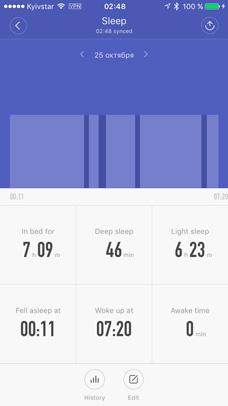 mi-fit контроль сна